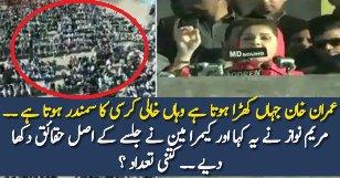 Aerial View Of PMLN Jalsa During Maryam Nawaz Speech