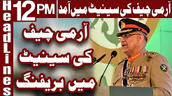 Army Chief Briefs Lawmakers on Security Situation - Headlines 12 PM - 19 December