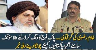 DG ISPR Maj Gen Asif Ghafoor Response On Khadim Rizvi Arrest