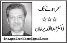 Har Balai Ze Aasmaan Uftad - By Dr. Abdul Qadir Khan - 20th April 2015