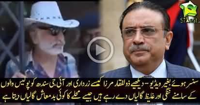 Dr. Zulfiqar Mirza's naked abuses to Zardari and IG Sindh