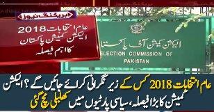Election 2018 Kayliye Election Commission Ka Bara Faisla
