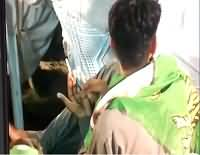 Exclusive Video: Person Caught Having Charas In PMLN Jalsa