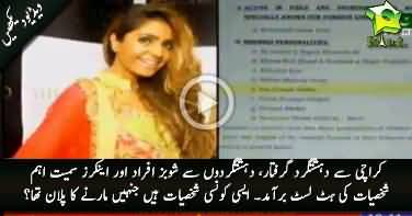 Hit list of 18 prominent anchorpersons & showbiz personalities found from arrested terrorist