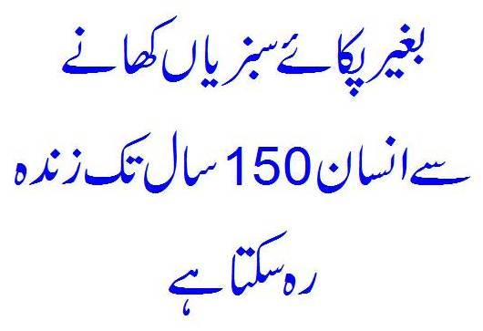 Kachhi Sabziyaan Khaane Se 150 Saal