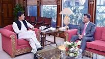 Lt Gen Faiz Hameed calls on PM Imran after assuming office as DG ISI