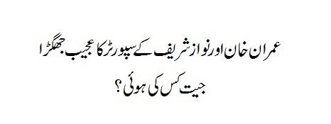 PTI Imran Khan Supporter Vs Nawaz Sharif Supporter
