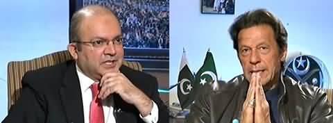 PTI workers danday khaate rahe aur Aap Banni Gala mai bethay rahe: Nadeem Malik - Watch Imran Khan's reply