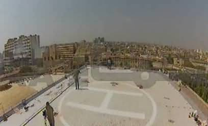 Rich CM of poor province -- Helipad constructed for CM Sindh Qaem Ali Shah to the dome of Sindh Assembly building