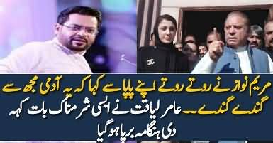 Social Media Angry On Aamir Liaquat Remarks About Maryam Nawaz