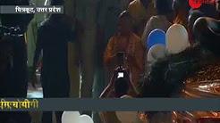 UP CM Yogi Adityanath offering prayers at Mandakini River - मंदाकिनी नदी की पूजा करते CM योगी