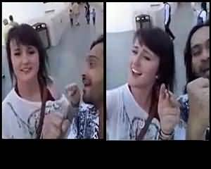 Waqar Zaka Flirts with American Girl - Must Watch