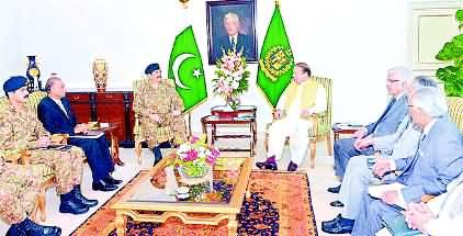 Wazer E Azam, Army Cheef Aaj Saudia Rawana - 23rd April 2015 - News