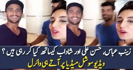 What Zainab Abbasi Doing With Hassan Ali & Shahdab?