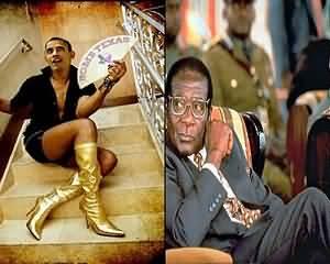 Zimbabwe's leader Robert Mugabe 'proposes to Barack Obama'